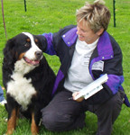 dog trainer with friendly dog